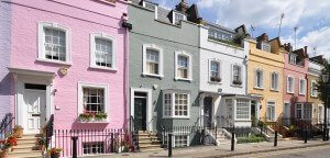 Images of houses in different colours