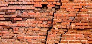 cracks brick historic wall