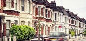 View of London street