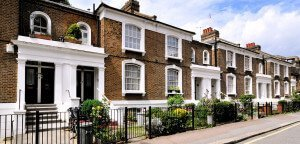 north london terrace of houses