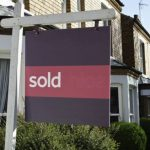 House market showing strong recovery sold sign